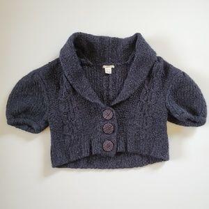 KENSIE | Black Knit Crop Cardigan